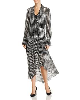Theory - Printed Dot-Print Dress