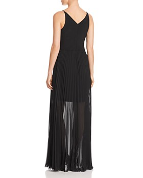 Avery G - Pleated Illusion Gown