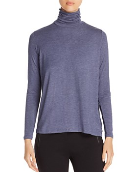 Majestic Filatures - Back-Pleat Turtleneck