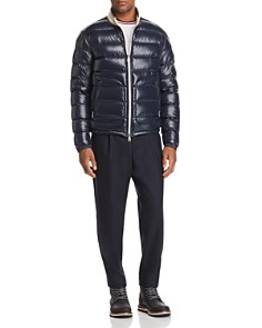 Moncler - Aubert Laque Down Jacket, Maglia Flag Ringer Tee & Cropped Tailored Fit Wool Pants