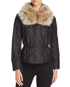 Belstaff - Guilford Fur-Trim Short Waxed Cotton Jacket