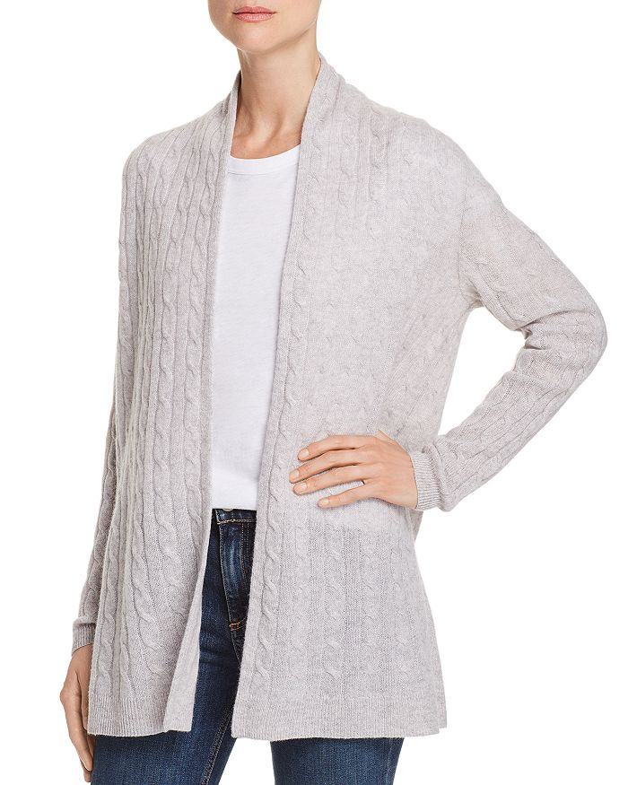 2902beac24 C by Bloomingdale s - Open-Front Cable-Knit Cashmere Cardigan - 100%  Exclusive