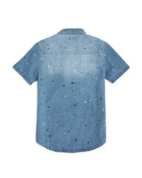 7 For All Mankind - Boys' Paint-Splattered Denim Shirt - Little Kid