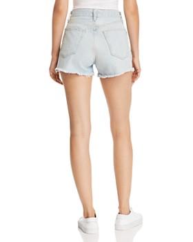 rag & bone/JEAN - Justine High-Rise Distressed Denim Shorts in Glena Hole