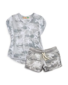 Vintage Havana Girls' Camo-Print Tee & Shorts - Big Kid - Bloomingdale's_0