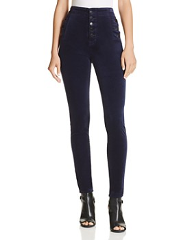 J Brand - Natasha Super Skinny Velvet Jeans in Night Out - 100% Exclusive