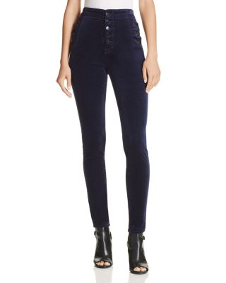 Natasha Super Skinny Velvet Jeans In Night Out   100% Exclusive by J Brand
