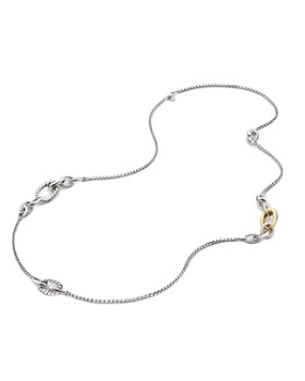 David Yurman - Pure Form Chain Station Necklace with 18K Gold