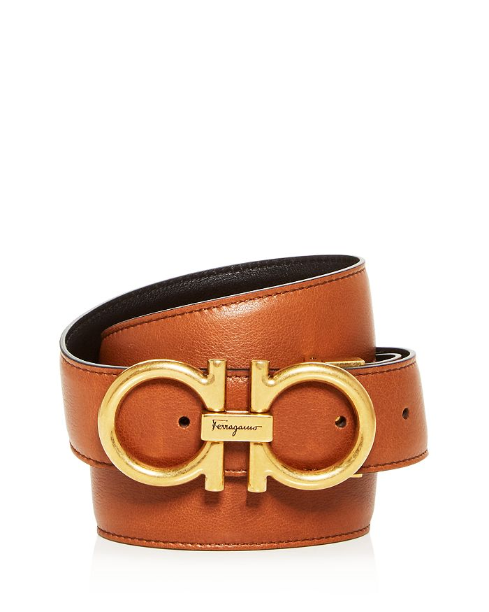 Salvatore Ferragamo - Men's Double Gancini Reversible Leather Belt