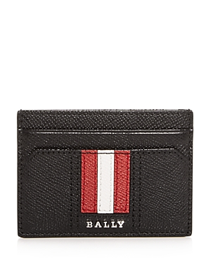 Bally Thar Embossed Leather Card Case