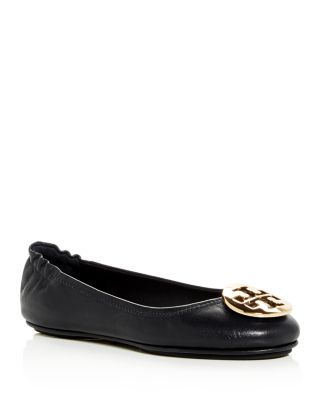 Women's Minnie Leather Travel Ballet Flats by Tory Burch