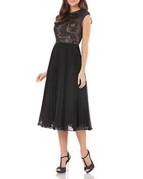 Carmen Marc Valvo - Sequined Bodice Dress