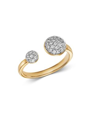 Bloomingdale's Pave Diamond Open Ring in 14K Yellow Gold, 0.25 ct. t.w. - 100% Exclusive