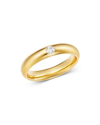 Bloomingdale's - Diamond Single Stone Band Ring in 14K Yellow Gold, 0.08 ct. t.w. - 100% Exclusive