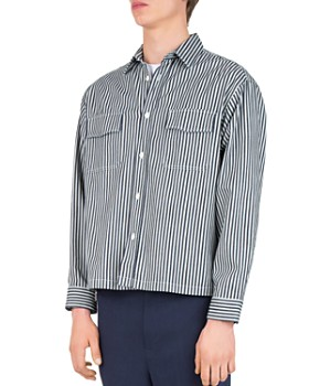 The Kooples - Striped Denim Regular Fit Sport Shirt