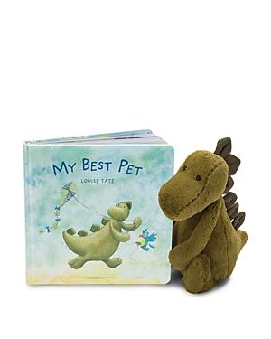 Jellycat My Best Pet Book & Bashful Dinosaur - Ages 0+