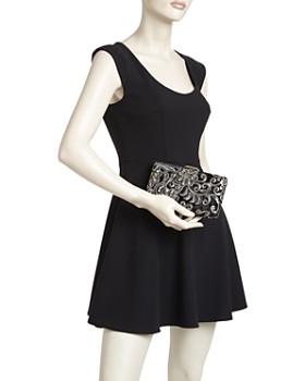 Sondra Roberts - Medium Sequin Brocade Satin Box Clutch