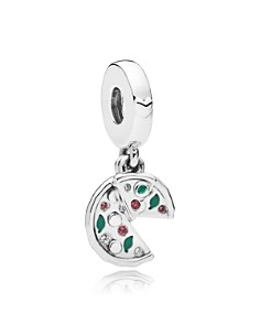 PANDORA Sterling Silver & Enamel Passion for Pizza Drop Charm - Bloomingdale's_0