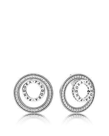 e03b34c91 PANDORA - Sterling Silver & Cubic Zirconia Forever Pandora Stud Earrings
