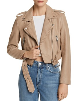Pistola - Pistola Tracy Cropped Faux Leather Moto Jacket