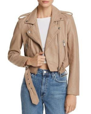 PISTOLA TRACY CROPPED FAUX LEATHER MOTO JACKET