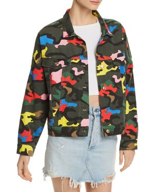 SUNSET & SPRING Sunset + Spring Camo Denim Jacket - 100% Exclusive in Colorful Camo