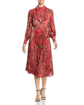 Elisabetta Franchi - Floral-Print Pleated Midi Dress