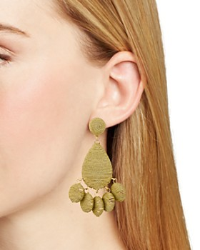 AQUA - Fabric Wrapped Drop Earrings - 100% Exclusive