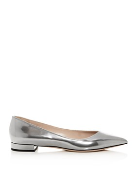 Giorgio Armani - Women's Leather Pointed Toe Ballet Flats