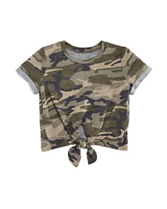 AQUA Girls' Camo-Print Tie-Front Tee, Big Kid - 100% Exclusive - Bloomingdale's_0