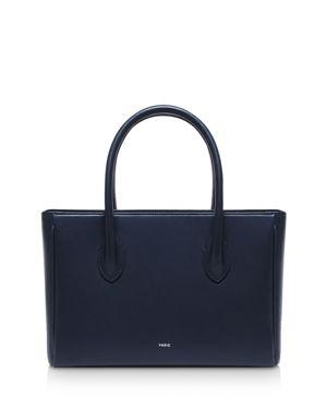 VASIC Resty Small Leather Satchel in Navy Blue