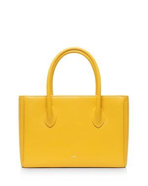 VASIC Resty Small Leather Satchel in Dandelion Yellow
