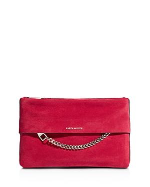 Karen Millen Medium Chain Detail Leather Clutch Bag