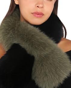 Charlotte Simone - Polly Pop Color-Block Fox-Fur Scarf