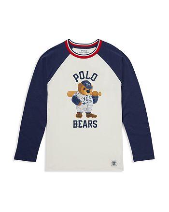 49628c81 Ralph Lauren Boys' Polo Bear Cotton Baseball Tee - Big Kid ...