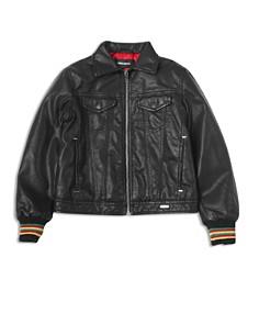 Diesel - Boys' JLight Giacca Faux Leather Jacket - Little Kid, Big Kid