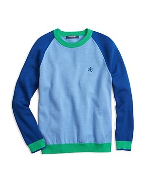 Brooks Brothers Boys' Color Block Crewneck Sweater - Little Kid, Big Kid