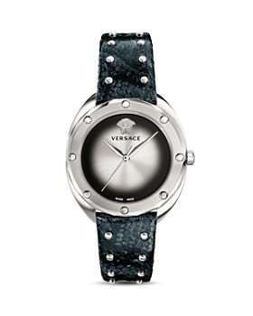 Versace Collection - Shadov Snakeskin Silver Watch, 38mm