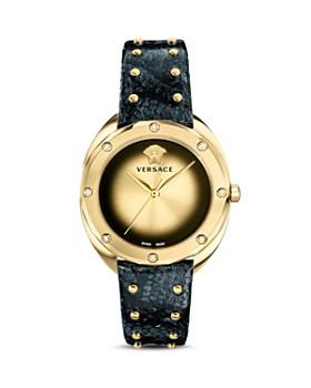 Versace - Shadov Diamond Snakeskin Watch, 38mm