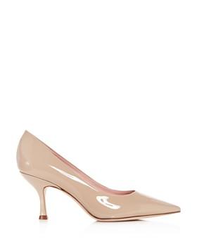kate spade new york - Women's Sonia Patent Leather Kitten-Heel Pumps