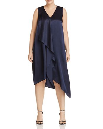 Adrianna Papell Plus - Asymmetric Drape Dress