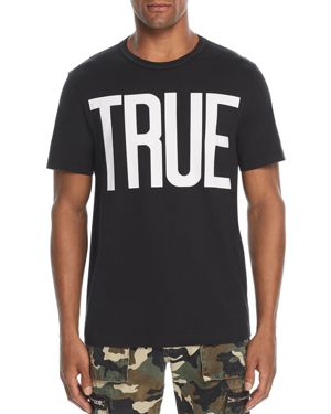 TRUE RELIGION LARGE LOGO GRAPHIC TEE