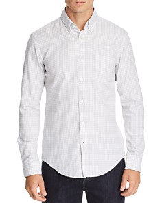 BOSS - Rod Micro-Check-Print Slim Fit Button-Down Shirt