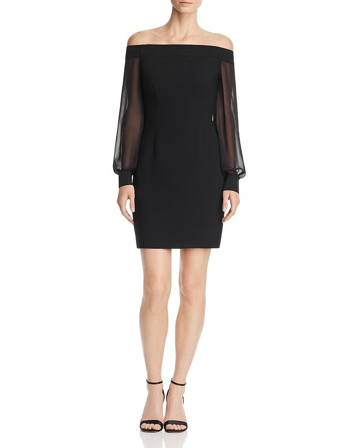 Aidan by Aidan Mattox - Off-the-Shoulder Crepe Dress - 100% Exclusive