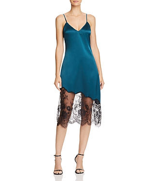 Cami Nyc Selena Lace-Inset Silk Slip Dress