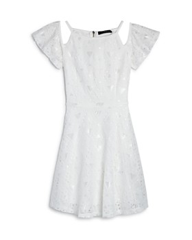 Miss Behave - Girls' Bella Lace Cold-Shoulder Dress - Big Kid