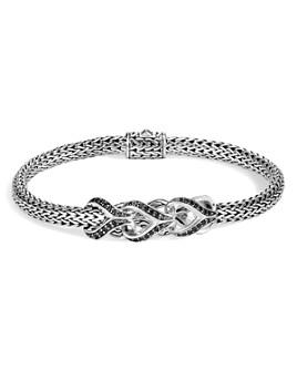 JOHN HARDY - Sterling Silver Classic Chain Black Sapphire & Black Spinel Small Bracelet, 5mm