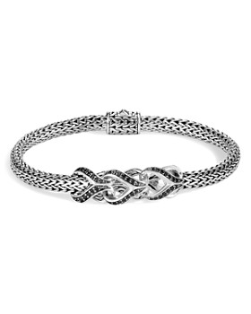 John Hardy - Sterling Silver Classic Chain Black Sapphire & Black Spinel Small Bracelet, 5mm