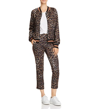 PAM & GELA - Leopard Print Track Jacket
