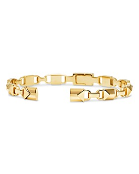 Michael Kors - Mercer Link Sterling Silver Center Back Hinge Cuff in 14K Gold-Plated Sterling Silver, 14K Rose Gold-Plated Sterling Silver or Solid Sterling Silver